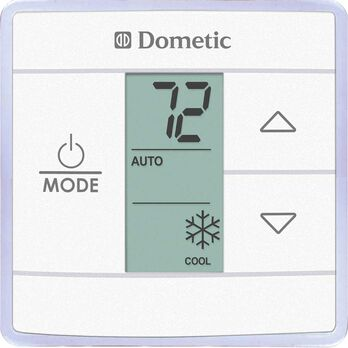 Dometic Capacity Touch Thermostat with with Control Kit, Cool//Furnace/Heat Pump, White