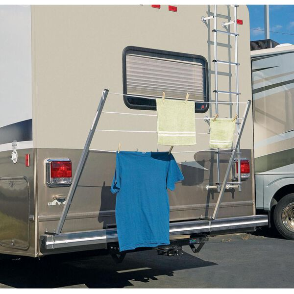Bumper Mount RV Clothesline