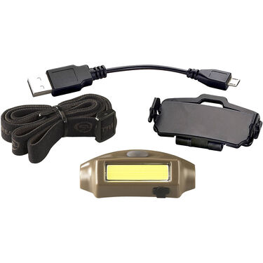 Streamlight Bandit Rechargeable LED Headlamp, Coyote w/White and Green LEDs