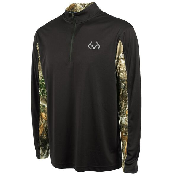 Realtree Men's Stealth Quarter-Zip Wind Shirt