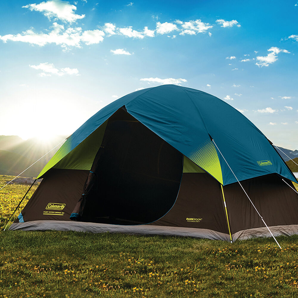 Coleman 6-Person Dark Room Fast Pitch Dome Tent | Camping ...