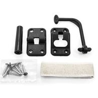 Camco 90-Degree RV Door Holder Kit with Door Bumper, Black