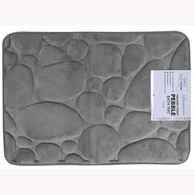 "Memory Foam Bath Mat, Gray Pebble, 17"" x 24"""