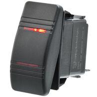 Whitecap Illuminated Contura Rocker Switch, ON-OFF-ON
