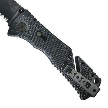 SOG Trident TF1-CP Folding Knife, Partially Serrated