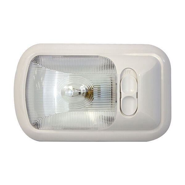 """Gustafson 8"""" Overhead Incandescent Light with Switch"""