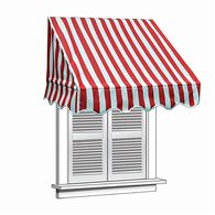 ALEKO 6x2 Red and White Window Awning Door Canopy 6-Foot Decorator Awning