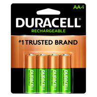 Duracell Rechargeable AA NiMH Batteries, 4-Pack