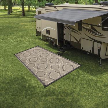 Reversible Magnolia Design RV Patio Mat