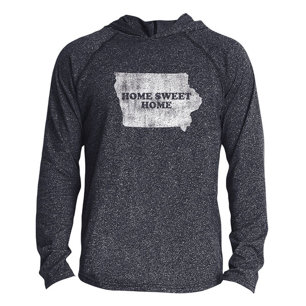 Points North Men's Iowa ''Home Sweet Home'' Long-Sleeve Hooded Tee