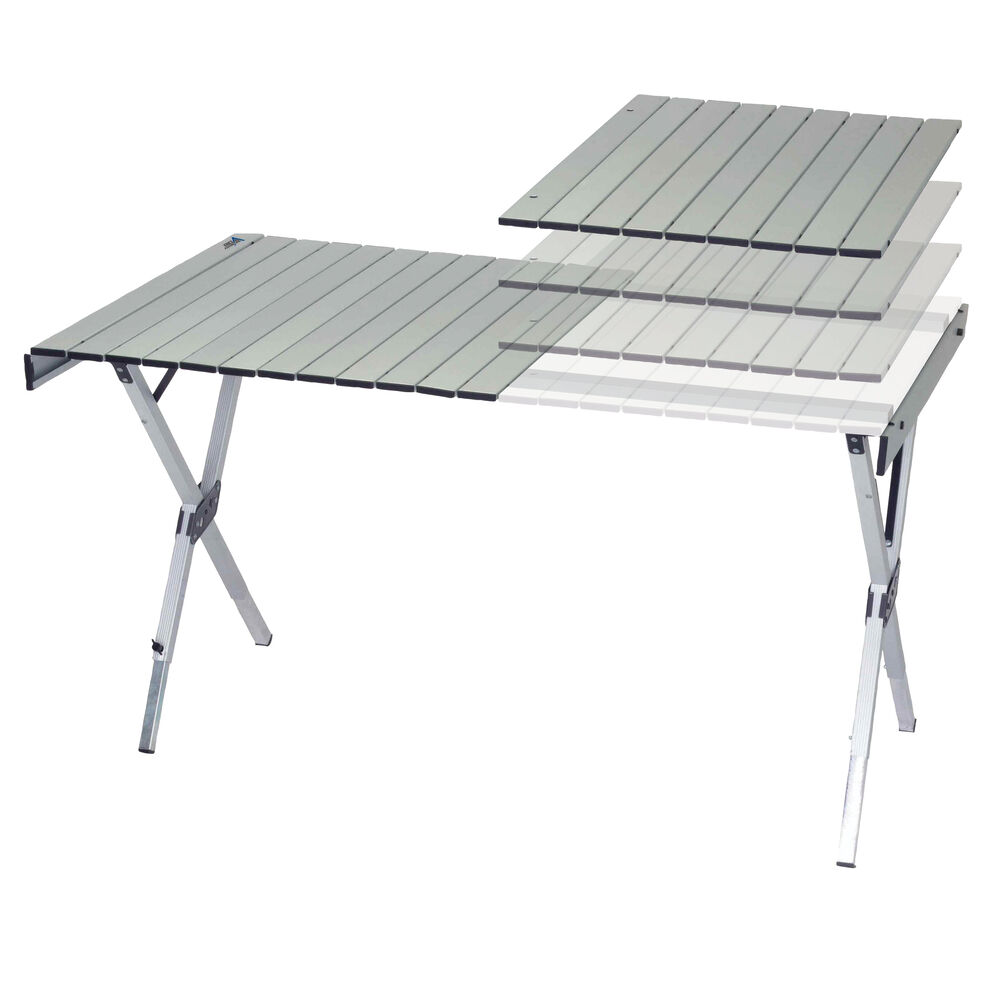 Rio Brands Compact Extendable Roll Top Table Camping World