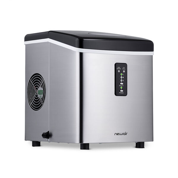 NewAir Countertop Ice Maker, Stainless Steel, 28 lbs. per Day