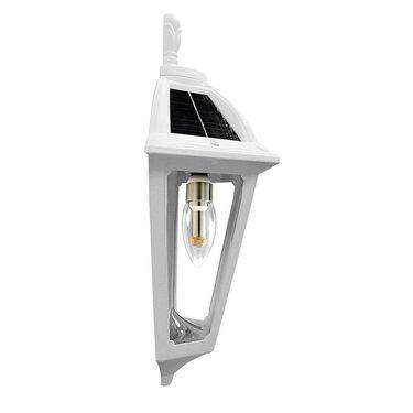 Polaris Solar Sconce with GS Solar LED Light Bulb, White Finish