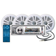 Boss MCK752WB.64 AM/FM/MP3 CD Marine Receiver Package With Bluetooth Capability