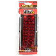 """LED Sealed Tail Light; 6"""" oval, surface mount with flange, Red"""