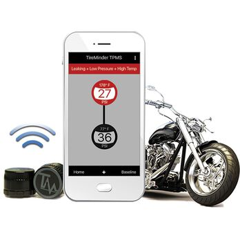 TireMinder® Motorcycle TPMS, Kit With 2 Bluetooth® Transmitters