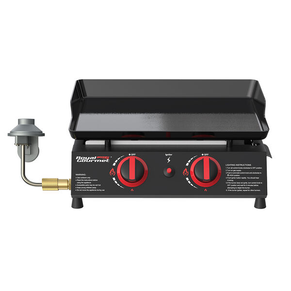 """Royal Gourmet 18"""" Portable Countertop Gas Grill Griddle"""