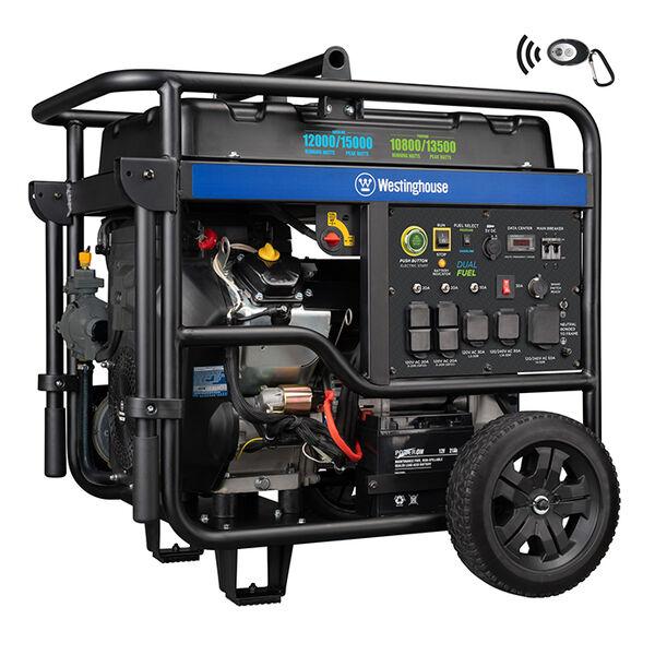 Westinghouse WGen12000DF 15,000/12,000 Watt Dual Fuel Portable Generator