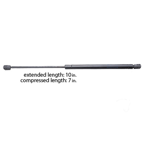 """Black Powder-Coated Gas Lift Springs - 10""""L extended, withstands 40 lbs."""