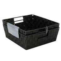 Home Collections Woven Strap Storage Bin, Set of 2