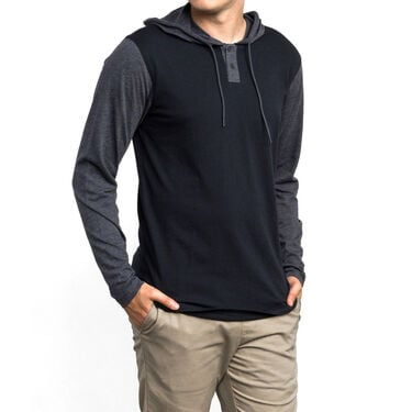 RVCA Men's Pick Up Hooded Knit Long-Sleeve Tee