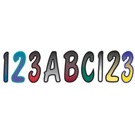 """3"""" Outlined Two-Color Fade Number Kit"""