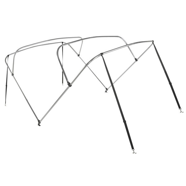 """Shademate Bimini Top 4-Bow Aluminum Frame Only, 8'L x 42""""H, 73""""-78"""" Wide"""