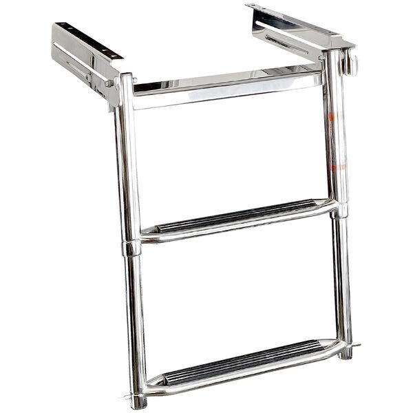 Overton's Slide-in 2 Step Telescopic Stainless Steel Swim Platform Ladder