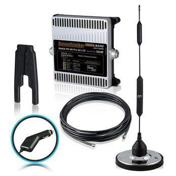 Smoothtalker RV X6 Pro 50dB 4G LTE Extreme Power Cellular Booster Kit, 12 Volt Plug-in Power