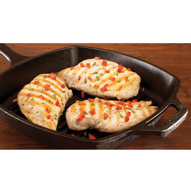 """Lodge Cast Iron 10.5"""" Square Grill Pan"""