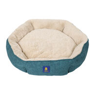 Round Bolster Pet Bed, Teal