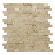 """Peel-and-Stick Mosaic Wall Tile, 12"""" x 12"""", Stacked Travertine"""