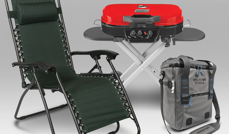 Shop up to 35% Savings on Grills, Outdoor Chairs, Tents & Coolers