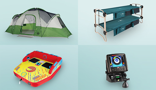 Great Selection of Camping, Boating & Fishing Supplies