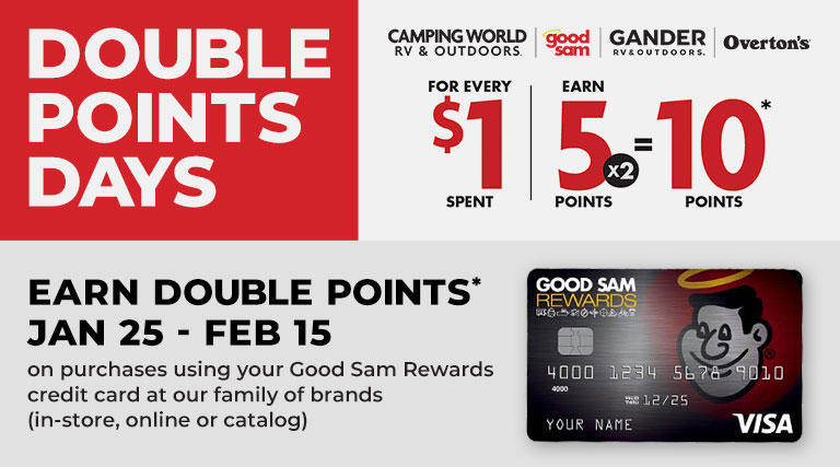 Earn Double Points on RV Covers