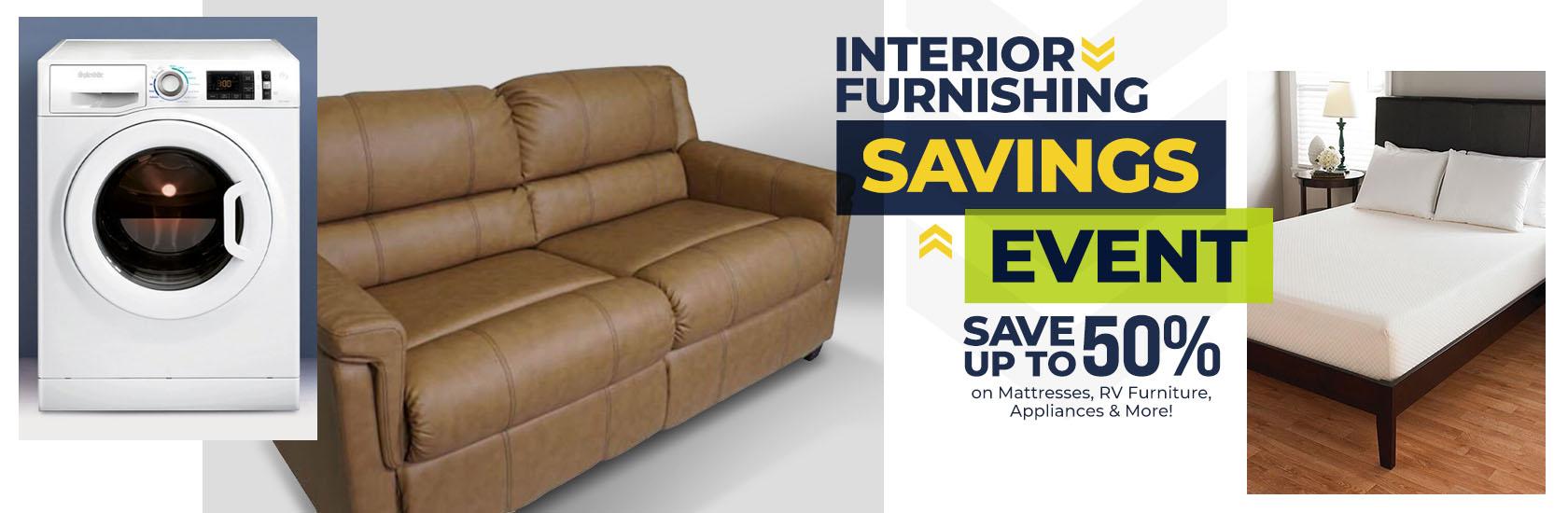 Interior Furnishings Savings Event