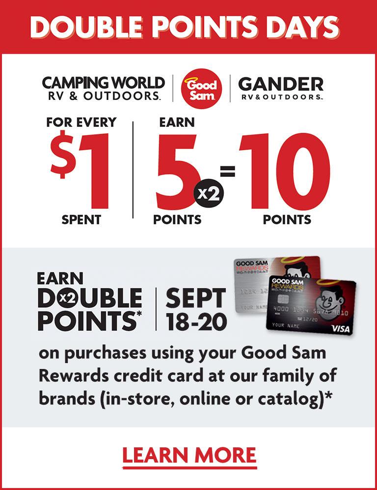 Good Sam Rewards Credit Card Double Points Days