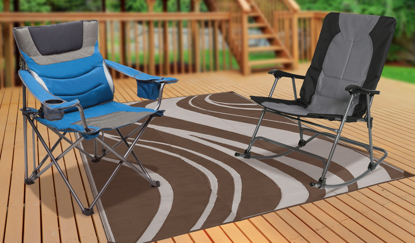 Fresh New Assortment of Outdoor Chairs, Tables and Patio Mats