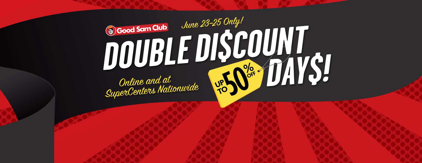 Good Sam Club Double Discount Days