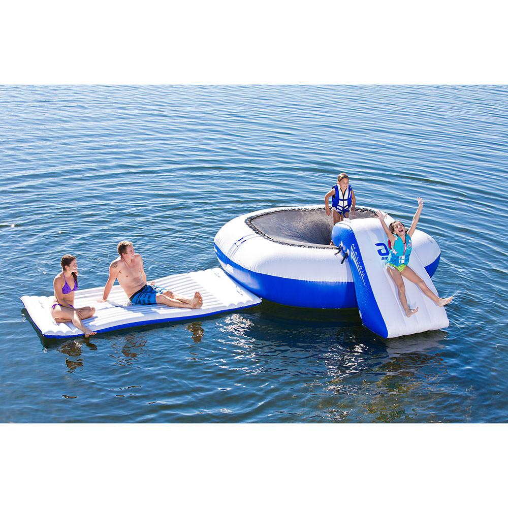 Aquaglide Malibu Aquapark With Bouncer, Slide, And Walkway