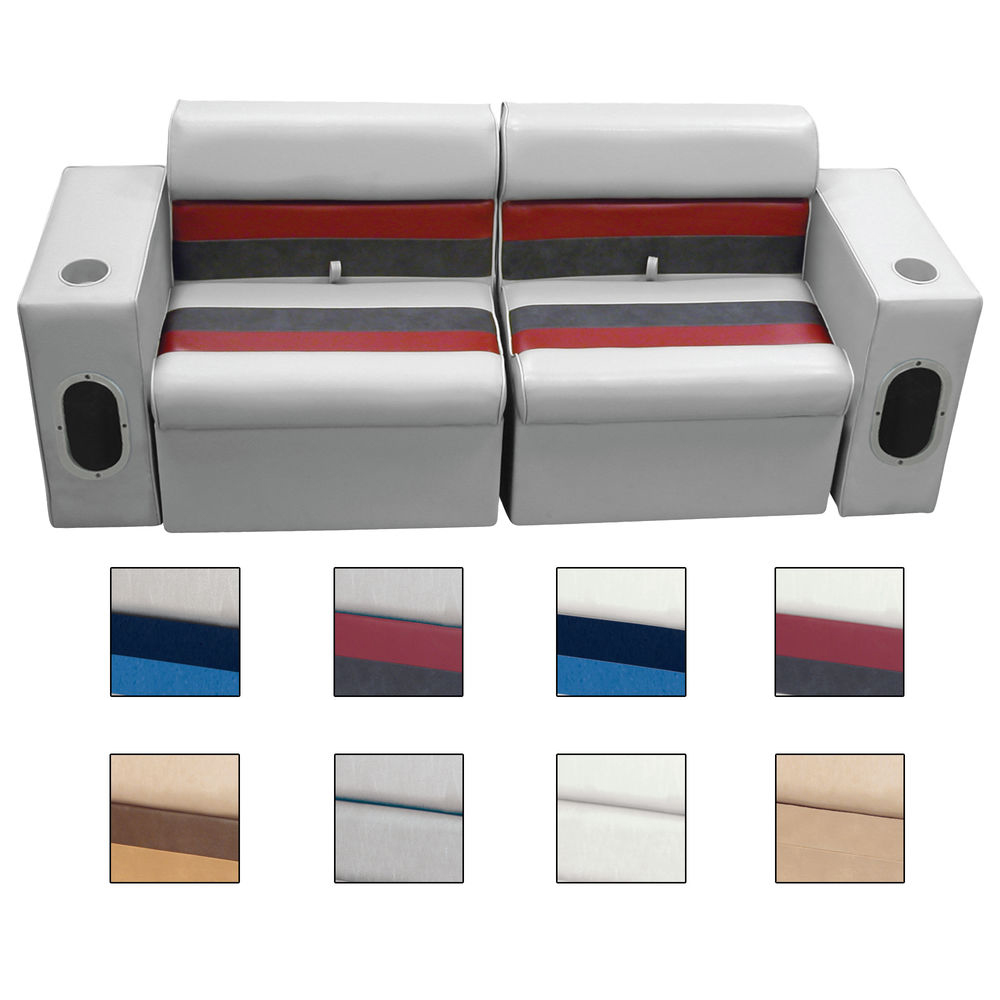 Deluxe Pontoon Furniture w/Classic Base(no toe kick)-Front Group Package E, Sand
