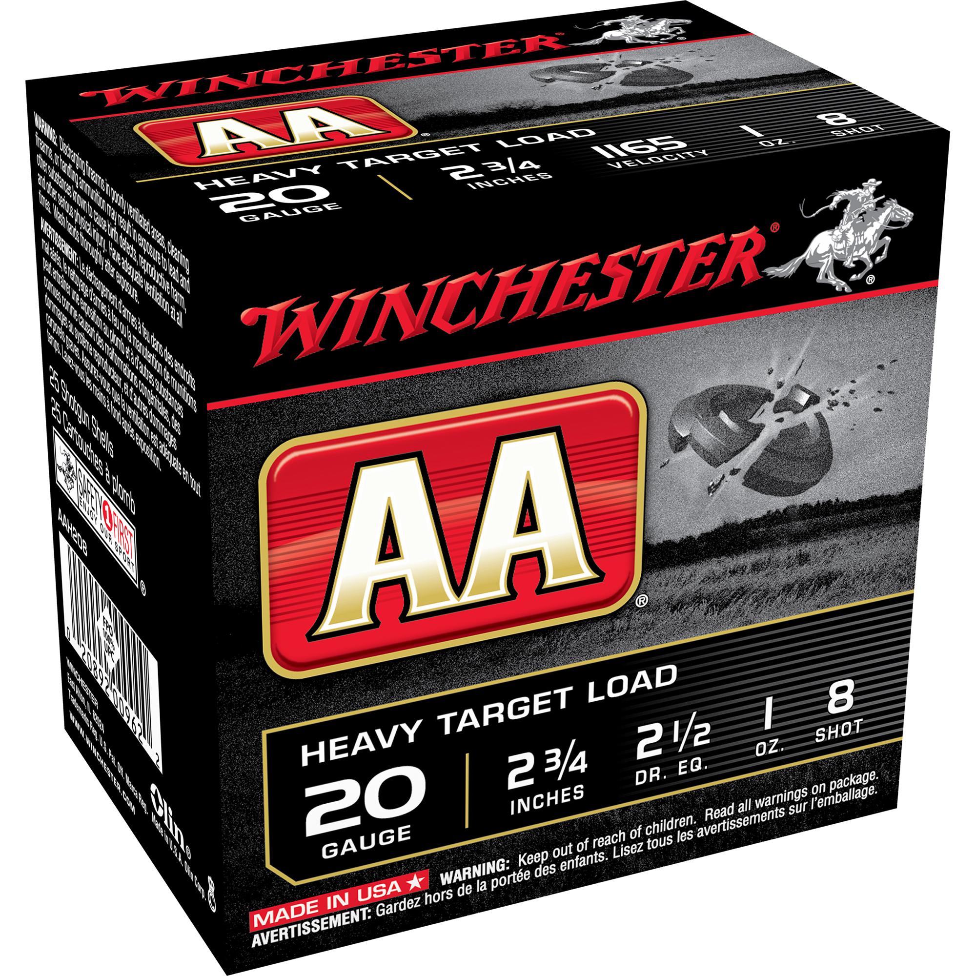 "Winchester AA Target Loads, 20-ga., 2-3/4"", 1 oz., #7.5, 8"