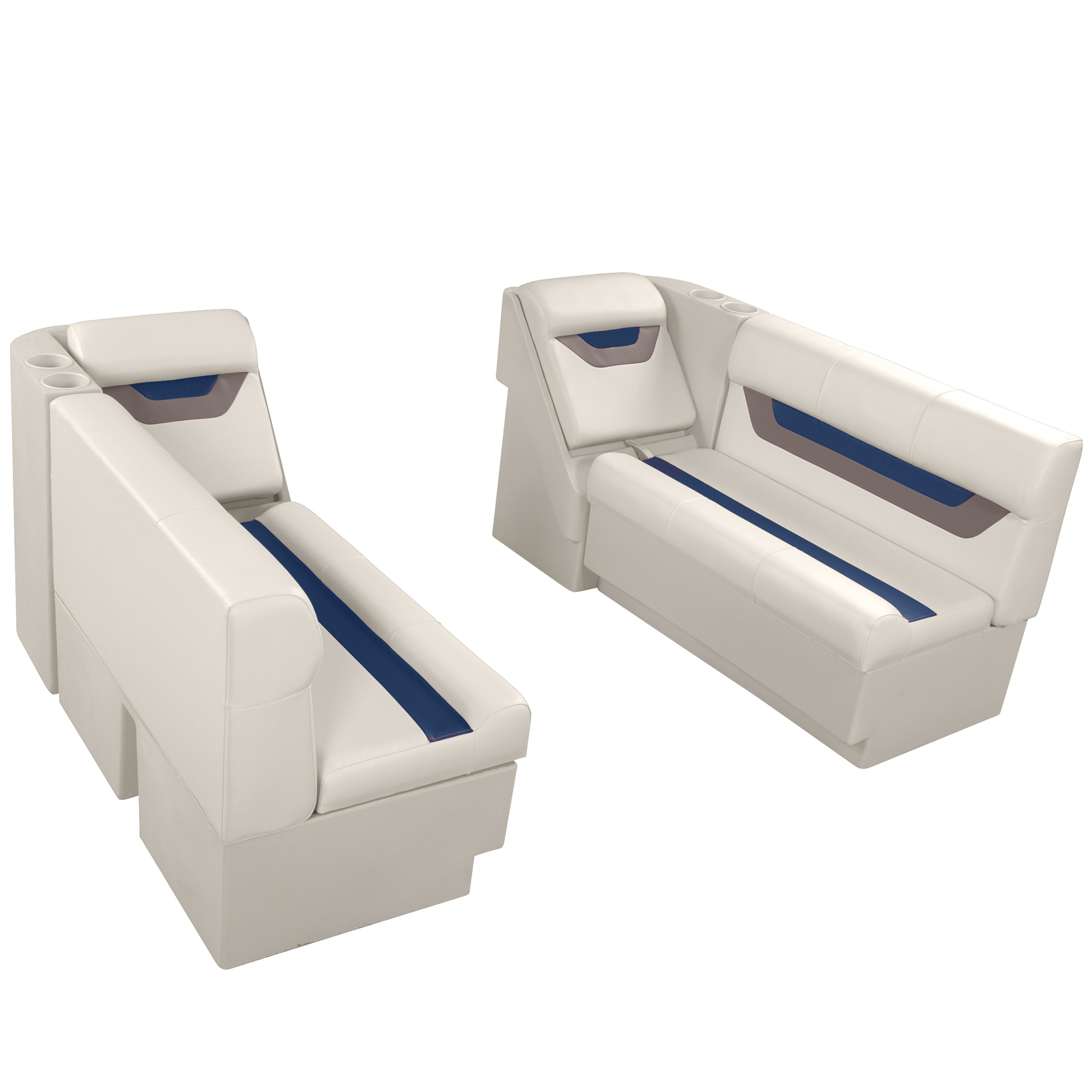 "Designer Pontoon Furniture - 54"" Front Lounge Package, Platinum/Midnight/Mocha"