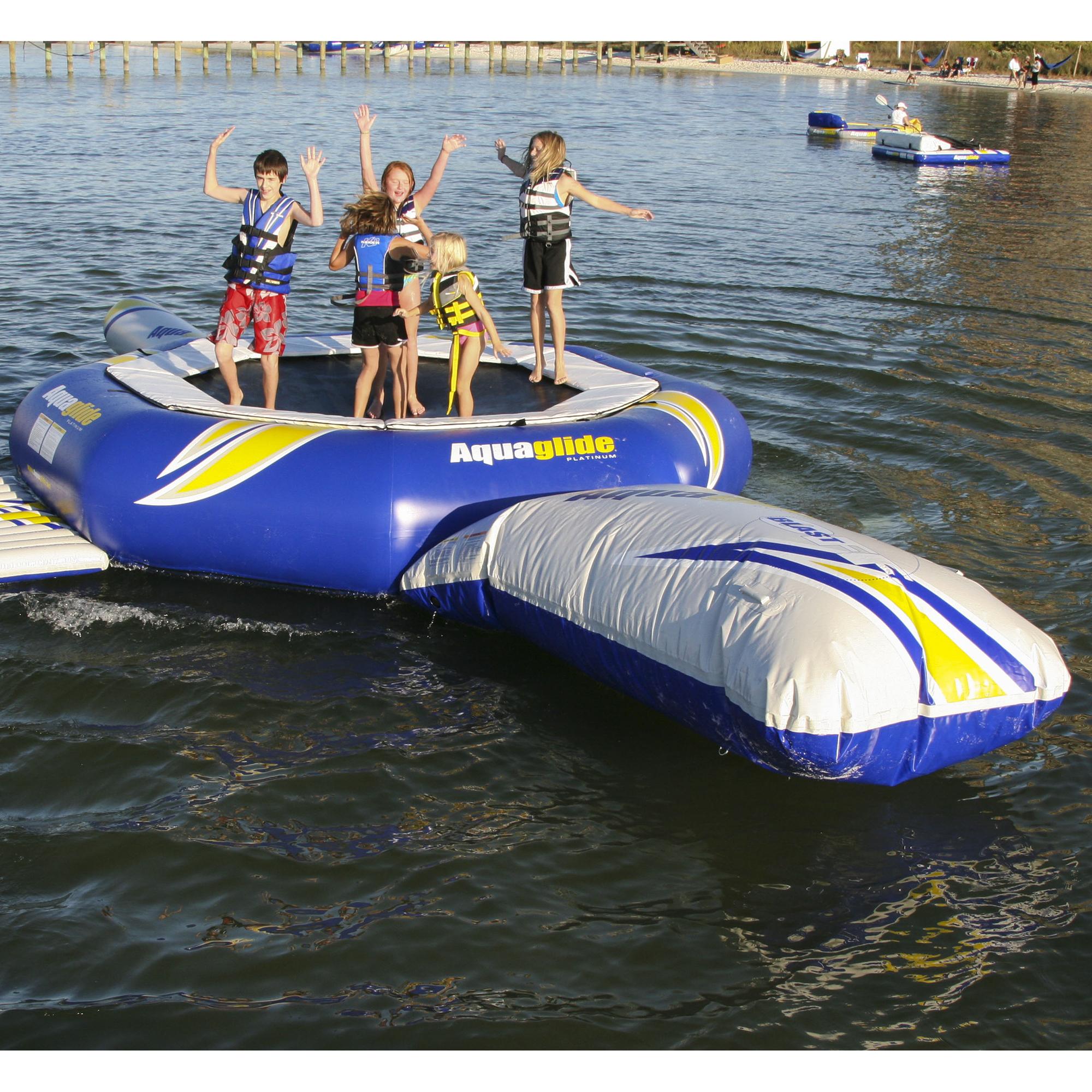 Aquaglide Supertramp Trampoline With Blast And I-Log