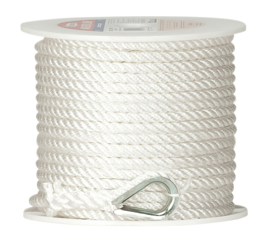 "Twisted Nylon Anchor Line, 1/2"" x 150'"