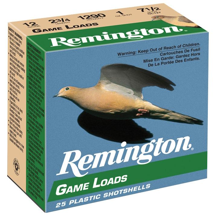 "Remington Game Load Shotshells, 12 Ga., 2-3/4"", 1 oz., #8"