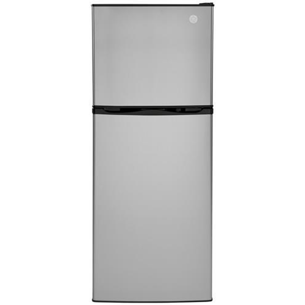 GE 9.8 Cu. Ft. 12V DC Power Top-Freezer Refrigerator, Stainless Steel photo