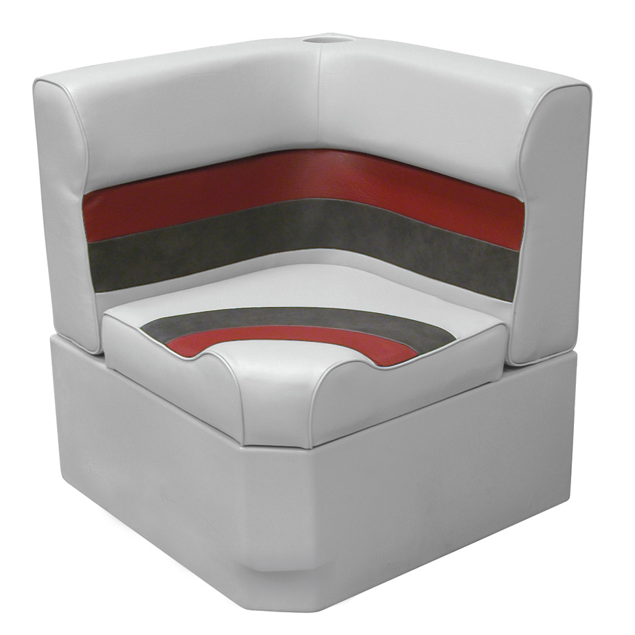 Toonmate Deluxe Radiused Corner Section Seat with Toe Kick Base, Gray
