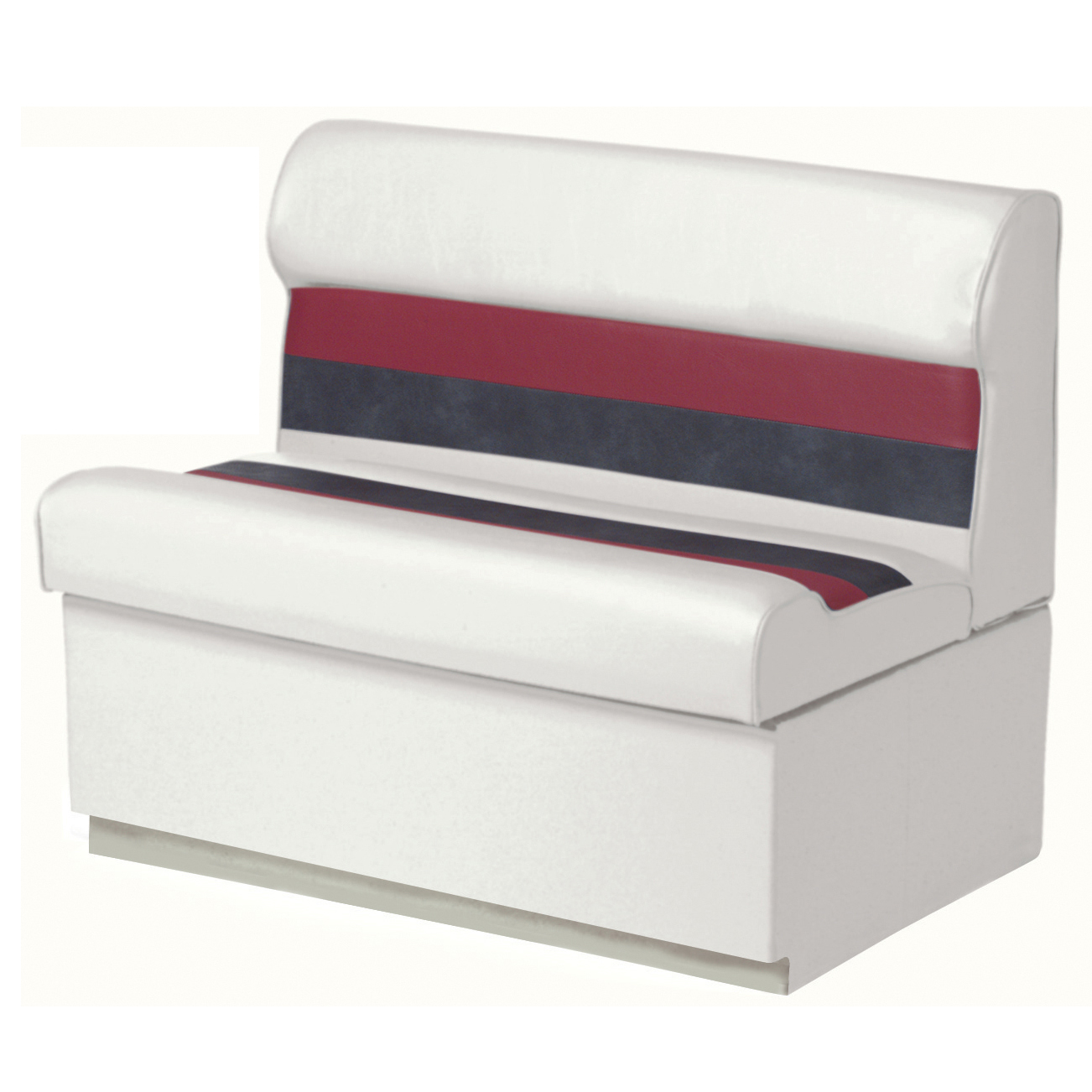 "Toonmate Deluxe Pontoon 36"" Wide Lounge Seat with Toe Kick Base, White"