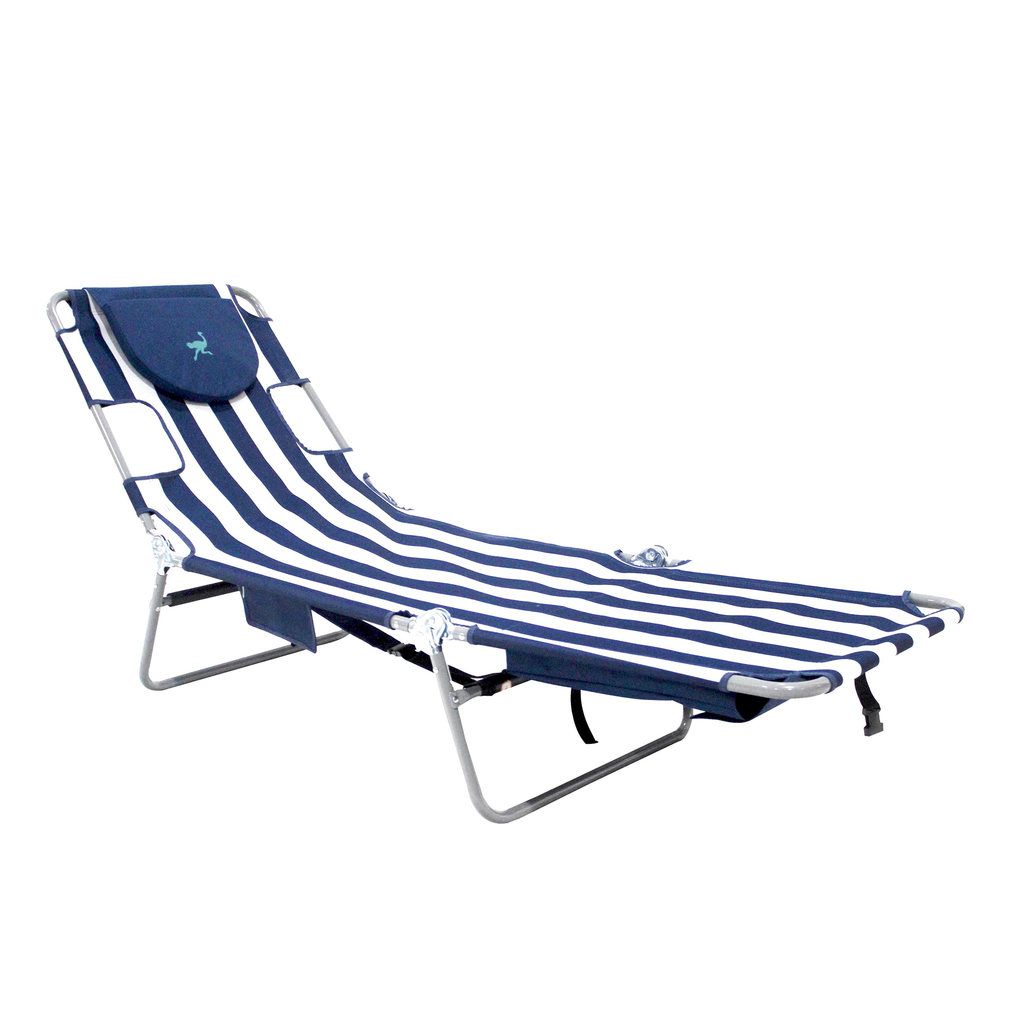 Ostrich Backpack Chaise Lounge, Blue/White